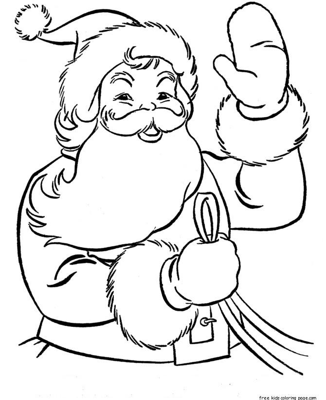 Printable christmas santa claus colouring pagesFree ...
