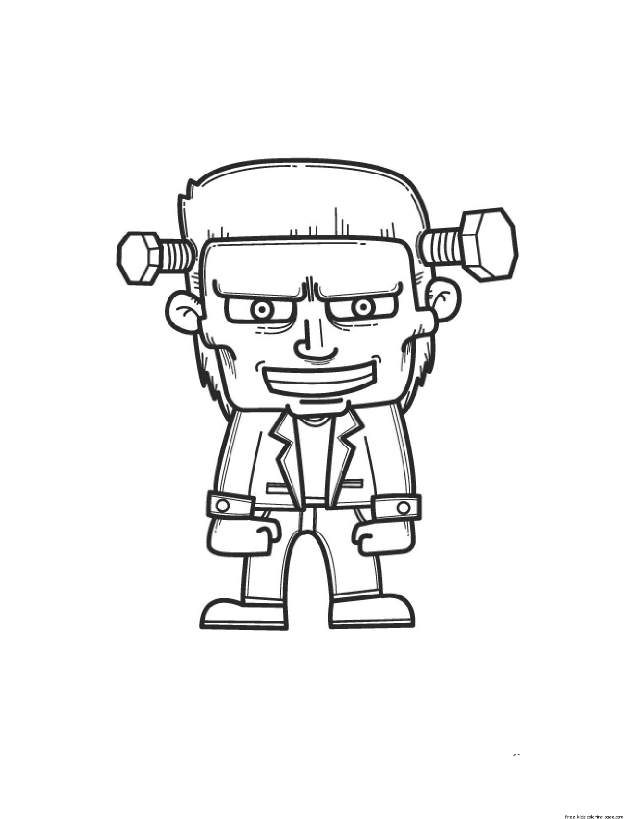 Frankenstein halloween coloring pages for kidsfree for Halloween frankenstein coloring pages