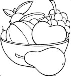 Fruits Pear Grpsae Watermelon and apple coloring in pages