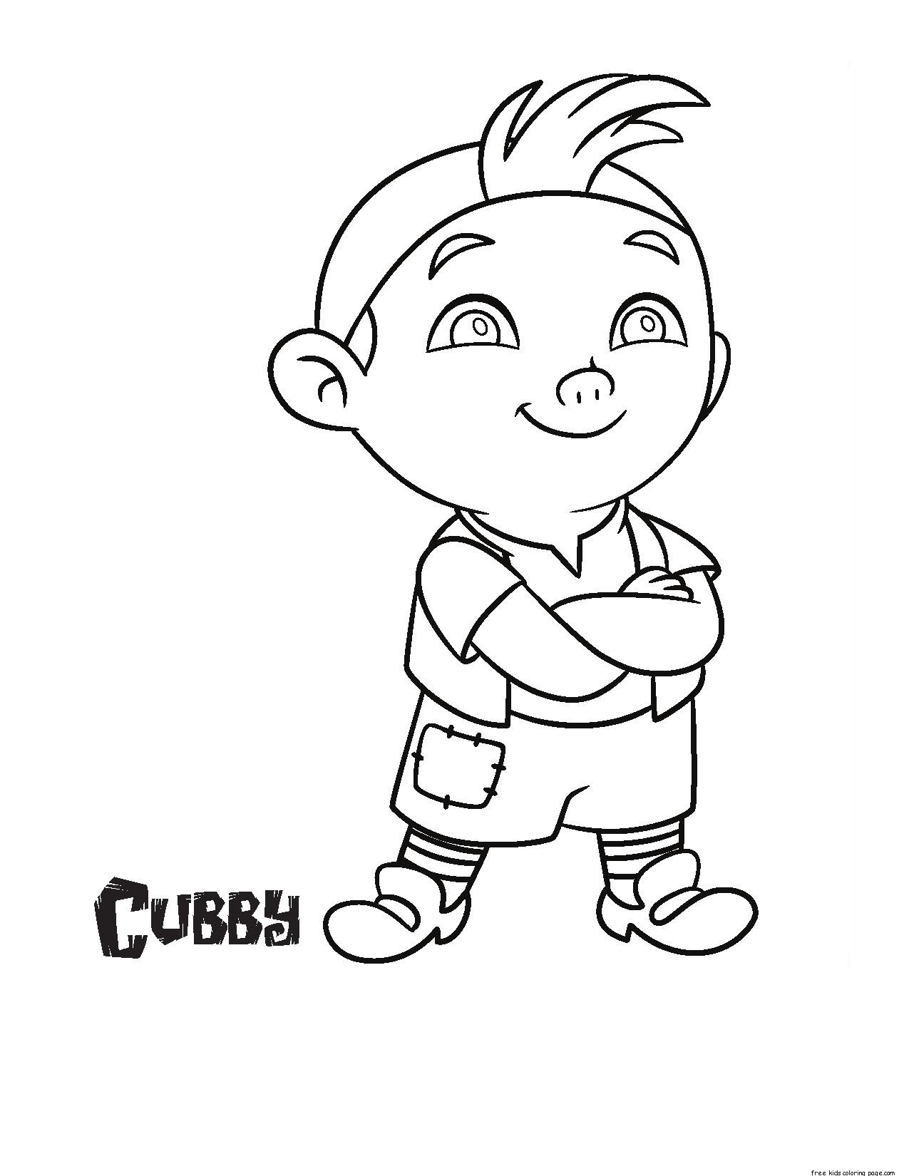 jake and the never land pirates cubby coloring pages free