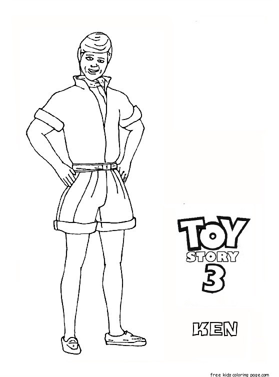 Ken toy story 3 free printable coloring pages for kids for Free printable coloring pages toy story 3