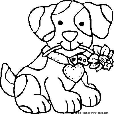 dog coloring pages for preschoolers for kidsfree printable
