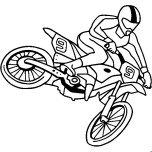 Print out moto cross coloring page