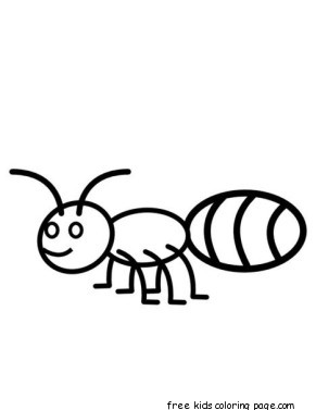 Free Printable ant coloring pages activities for kidsFree