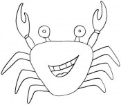 Printable animal Crab Coloring Pages