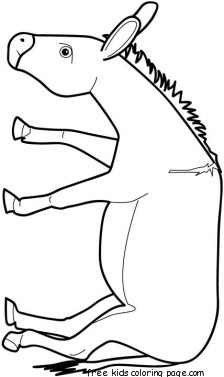donkey face mask template - print out animal donkey coloring pages for kidsfree