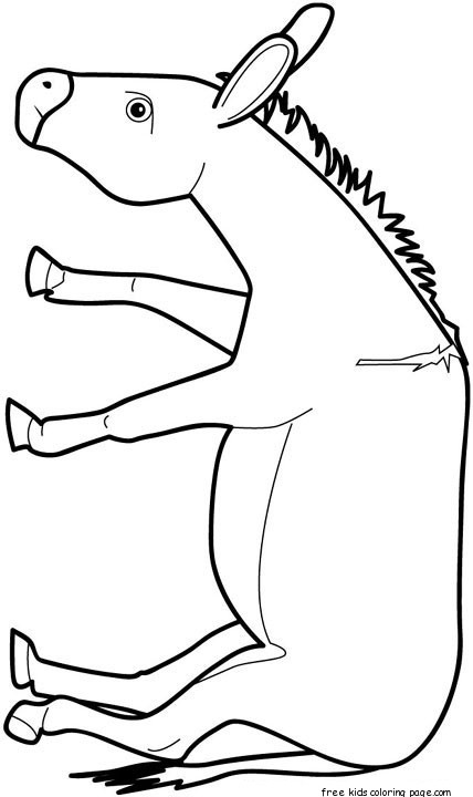 Print out animal donkey Coloring