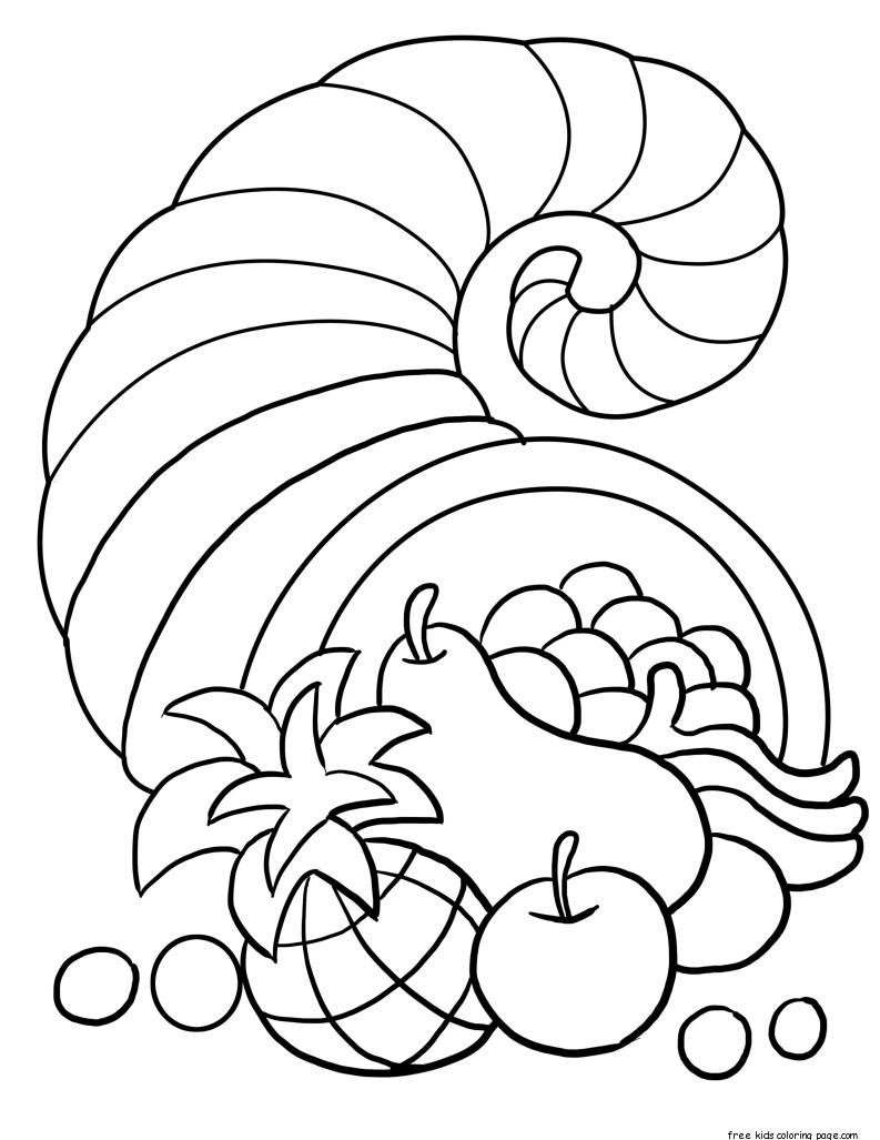 Free Coloring Pages Of Cornucopia Cornucopia Printable Coloring Pages
