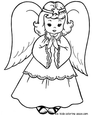 christmas angel colouring pages to printFree Printable Coloring Pages For Kids