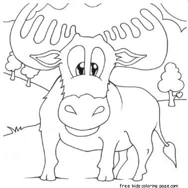 norwegian moose coloring pages