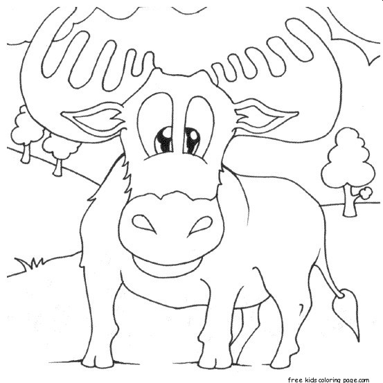 norwegian moose coloring pages printable for kidsFree