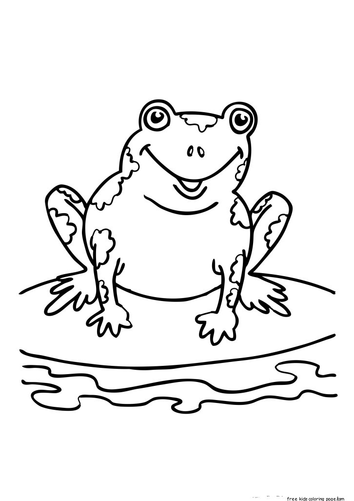 printable coloring sheets of frogs
