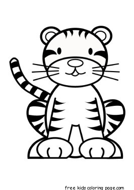 Printable Baby Tiger Coloring Pages For Kidsfree Printable