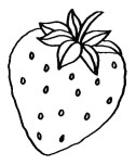 Fruits Strawberry coloring pages