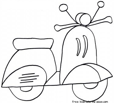 Printable Scooter Colouring Sheets For KidsFree Printable