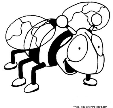 Print Out Insects Bees Coloring Pages For KidsFree Printable