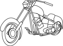 Printable motorcycle coloring pages