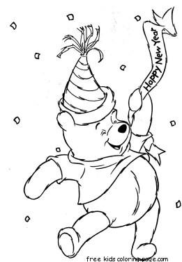 Winnie the pooh birthday printable coloring pagesfree for Winnie the pooh birthday coloring pages