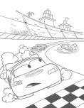disney Ramone and mcqueen car 2 coloring page
