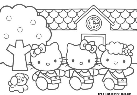 Hello Kitty Friends printabel coloring pages