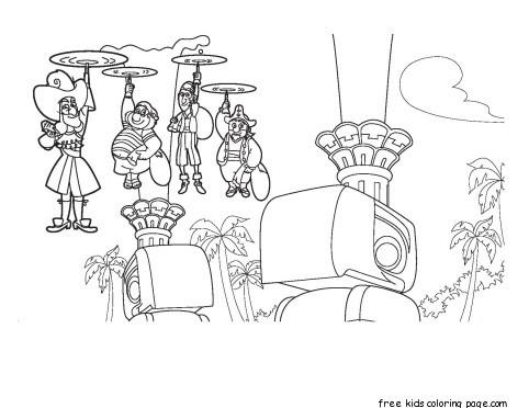 Jake Pirates Captain Hook Bones Mr Smee coloring pages