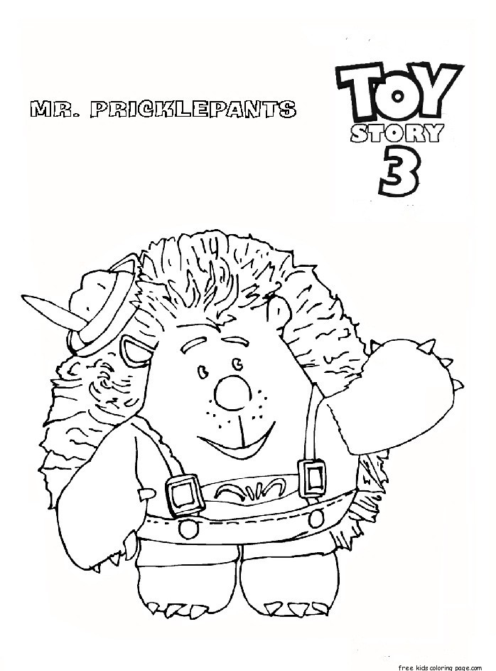 toy story 3 mr. pricklepants coloring pages for kidsFree ...
