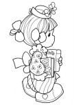 Precious Moments girl goes to school coloring pages