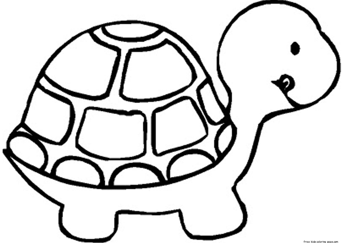 Print out Baby Turtle Coloring book Pages for kidsFree Printable
