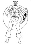 Print out Captain America coloring pages