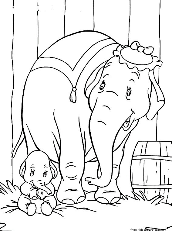 Disney Characters Dumbo with Elephant