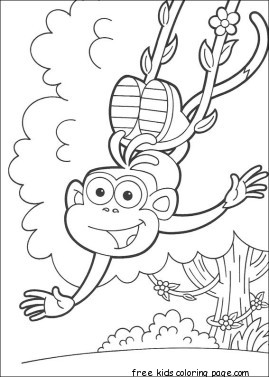 Print out Dora the Explorer Marquez coloring pages