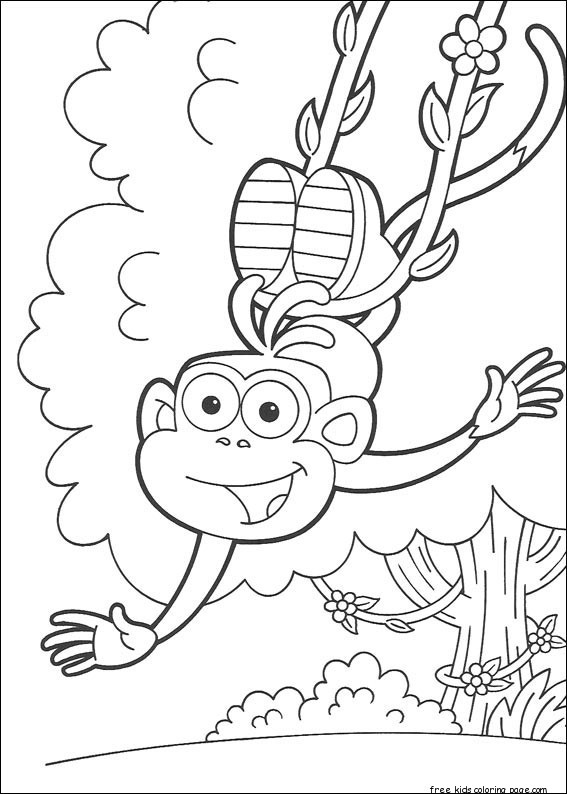 Print out dora the explorer marquez coloring pages free for Dora the explorer coloring pages printable