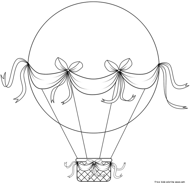 printable hot air balloon coloring