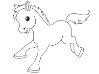 Print out Pony Baby animals coloring pages