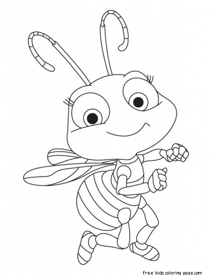 Printable Baby Honey Bee Coloring Book Pages For KidsFree Printable Coloring Pages For Kids
