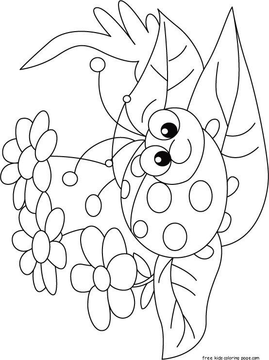 Ladybug Coloring Pages Printable For KidsFree