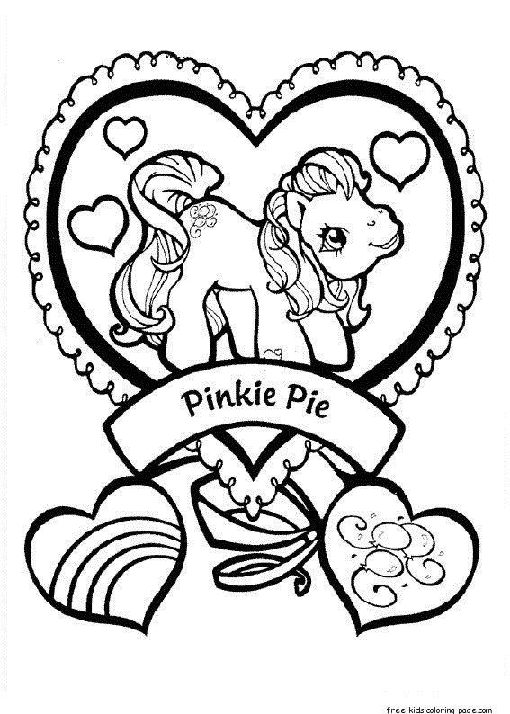 Print out my little pony Pinkie Pie coloring pages Free