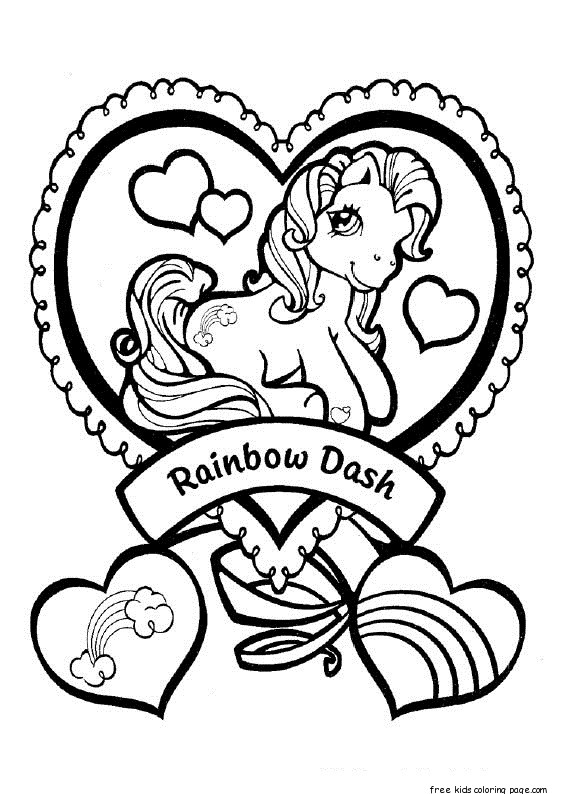 Print out my little pony Rainbow Dash coloring pagesFree