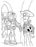 Printabel coloring pages Toy story 3 Characters Woody and Buzz