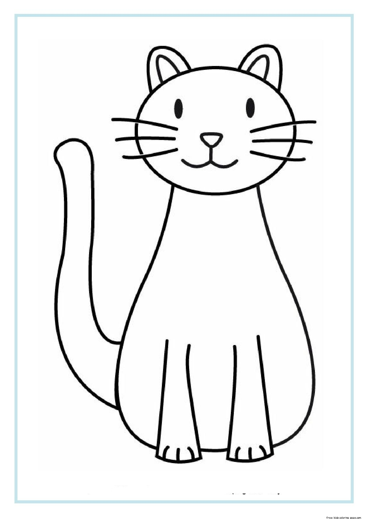 Coloring Pages For Kids Printable : Printable cat coloring sheets for kidsfree