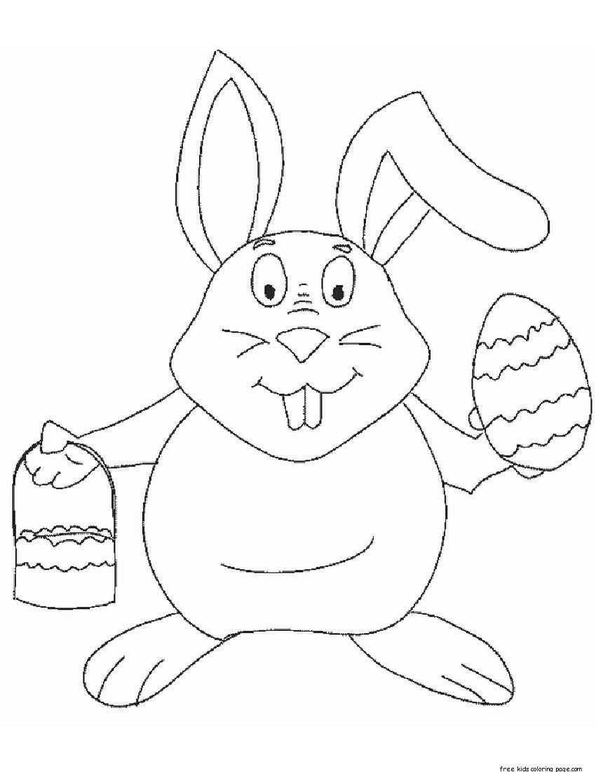 Easter coloring pages games ~ Printable coloring pages of easter eggs and bunniesFree ...