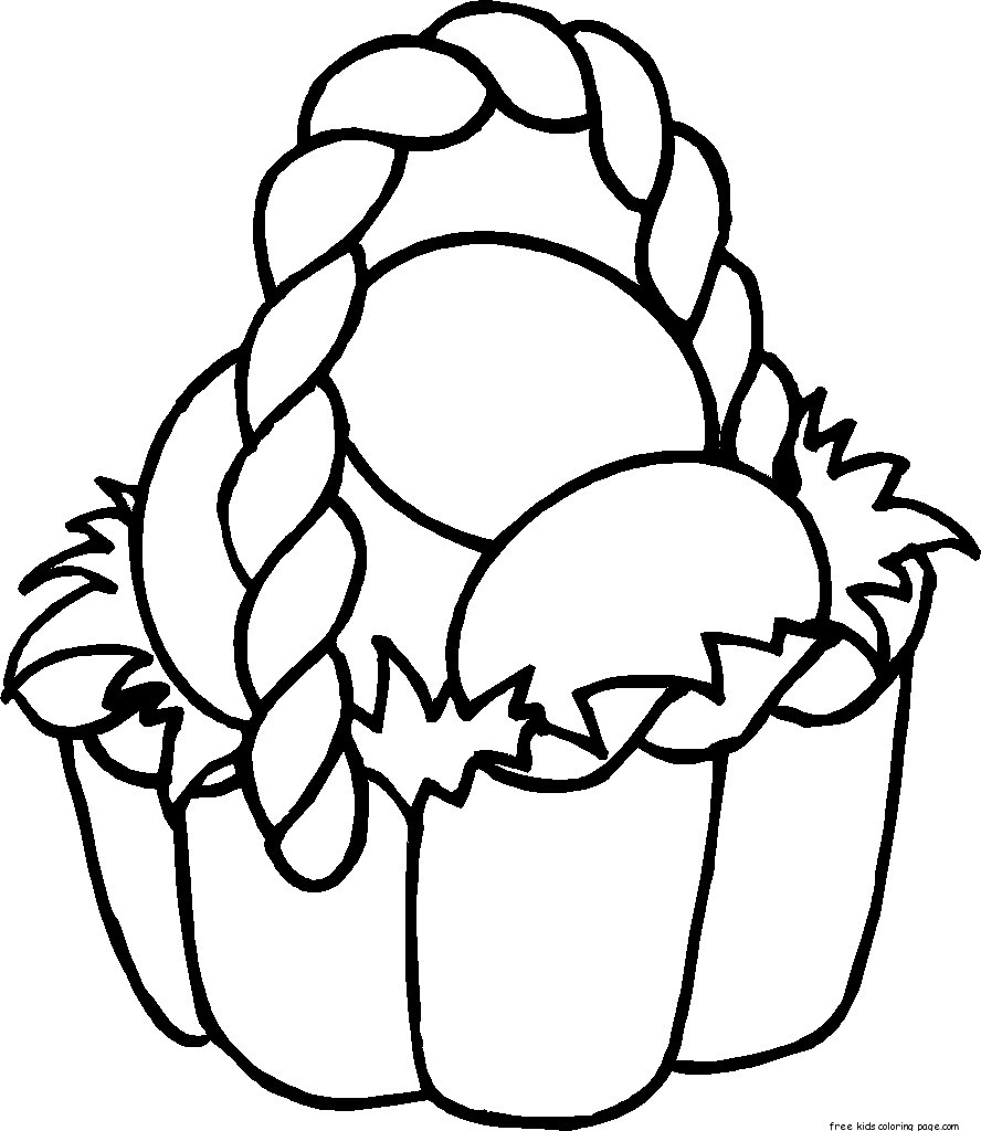 easter basket coloring sheets free printableFree Printable