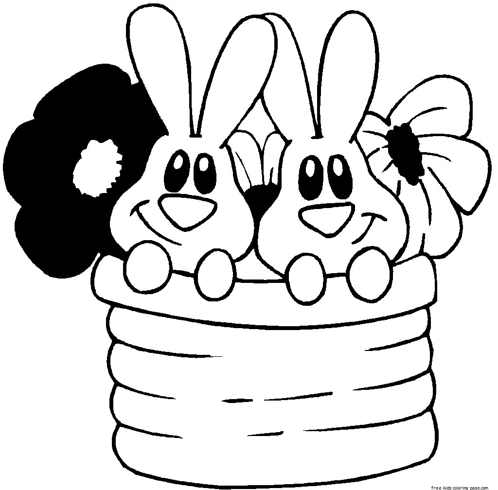 Printable easter bunny colouring