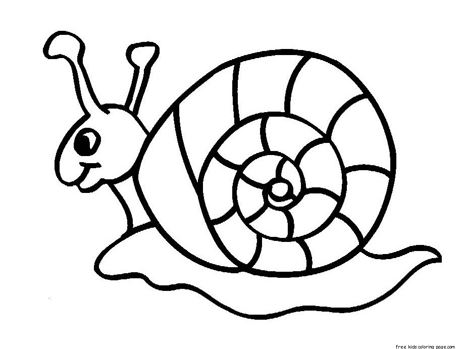 Printable animal snails coloring in sheets for kidsFree Printable