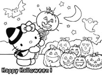 hello kitty Halloween with pumpkins