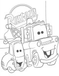 Guido and tow mater coloring page