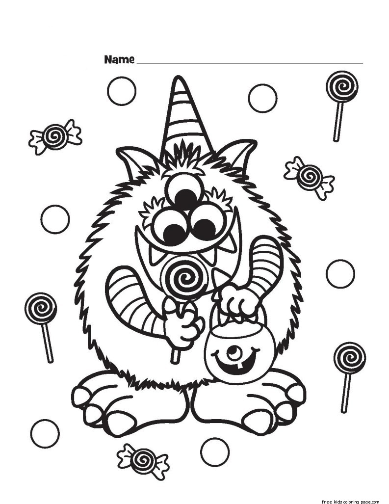 Print out Halloween Candy Critter