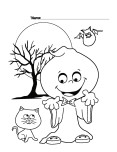 Halloween Silly Printabel coloring pages