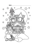Halloween Witch Castle Printabel coloring pages