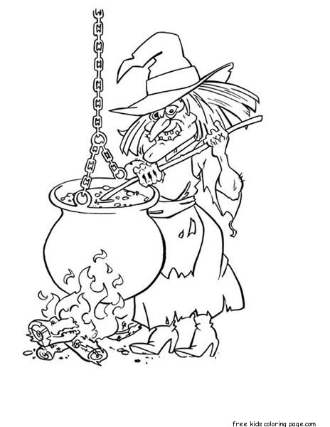 Witch Halloween Coloring Pages PrintableFree Printable